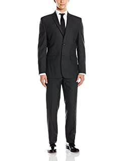 Greg Norman Mens Comfort Stretch Performance Traditional 2 Button Center Vent in A Modrn Fit Suit