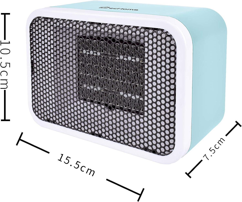 ecHome 400W Handy Portable Mini PTC Ceramic Heater Blue Suitable for Bathroom Use Blue