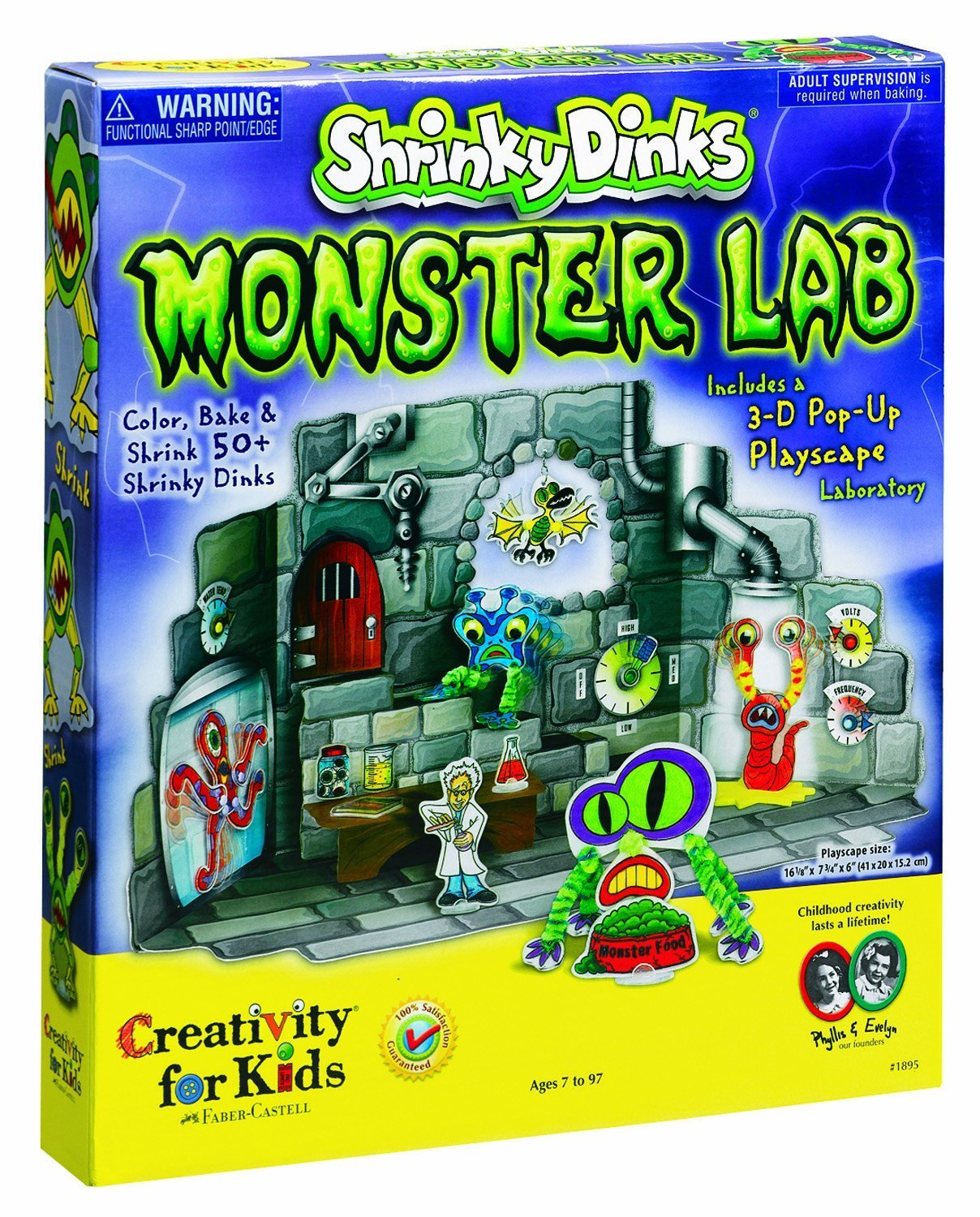 Monster lab set kit Shrinky Dinks