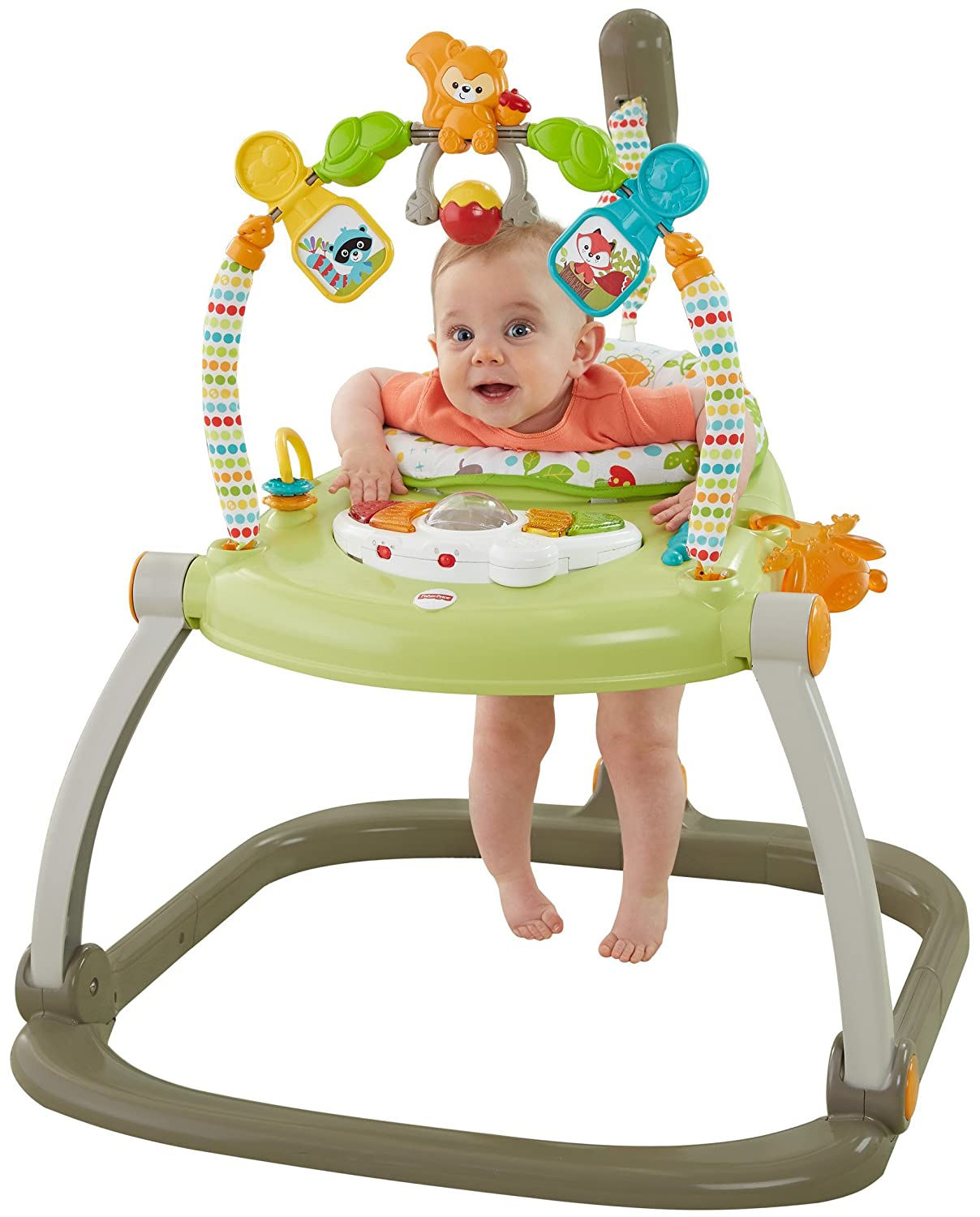 cda3684d4 Amazon.com   Fisher-Price Woodland Friends SpaceSaver Jumperoo   Baby