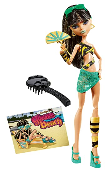 Amazoncom Monster High Gloom Beach Cleo De Nile Doll Toys  Games