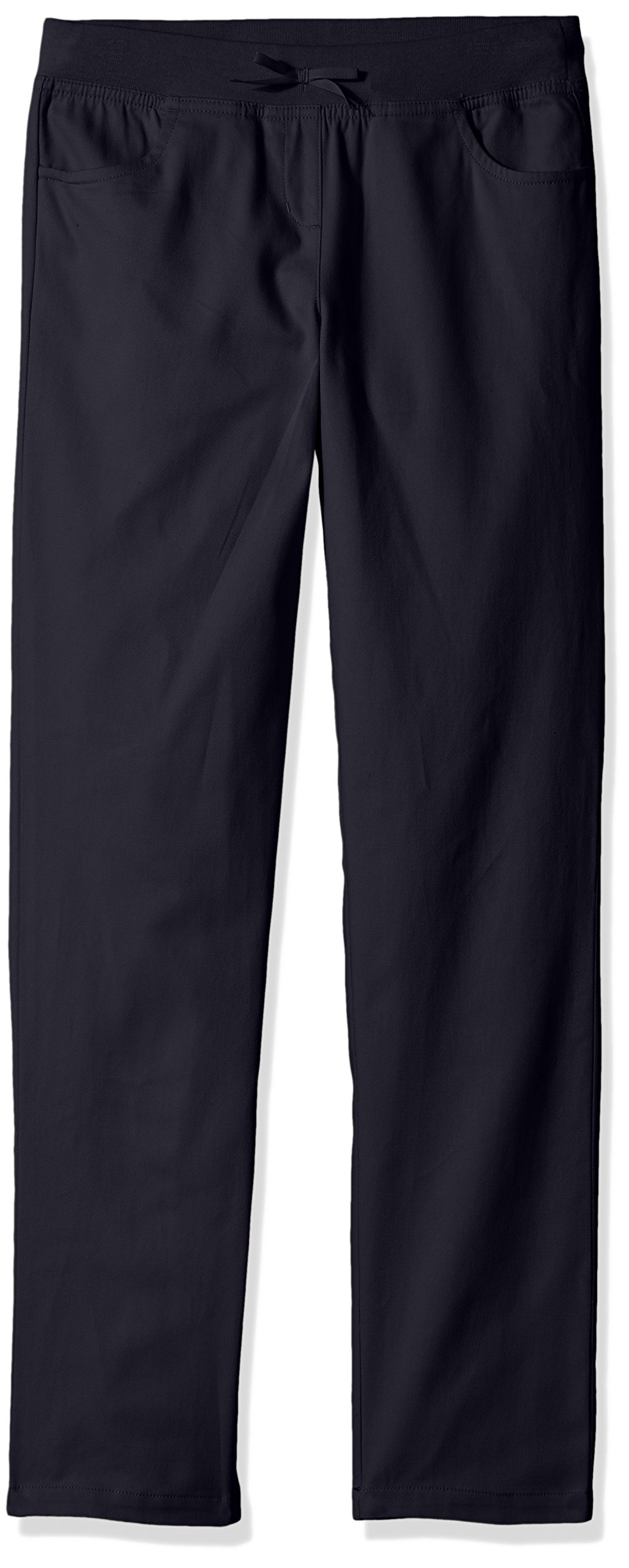 Dockers Little Girls' Uniform Skinny Pant with Rib Waistband, Navy, 5