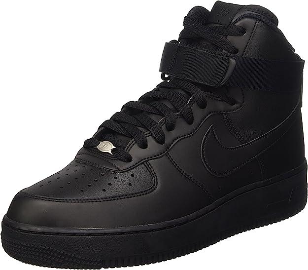 Nike 315121-032 Men AIR Force 1 HIGH 07 Black/Black/Black