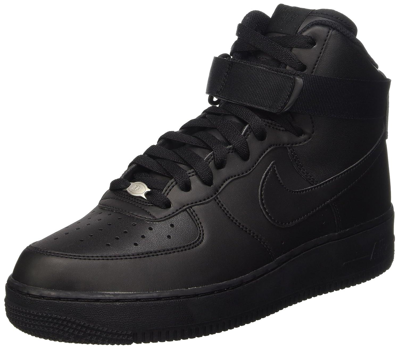 NIKE Air Force 1 (Black/Black/Black) High '07, Baskets Homme 41 EU|Noir (Black/Black/Black) 1 95cff2