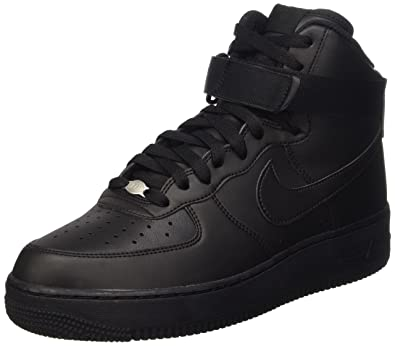 Nike Air Force 1 High '07, Baskets Homme, Noir (Black/Black