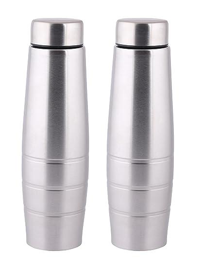 e0c78038f7 Zafos Chromo S.S Steel 1000ml (Set of-2) - Fridge Water Bottle. Leak ...
