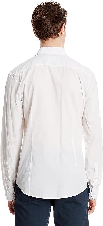 Springfield Camisa Hombre Blanco Roto M: Amazon.es: Ropa y accesorios
