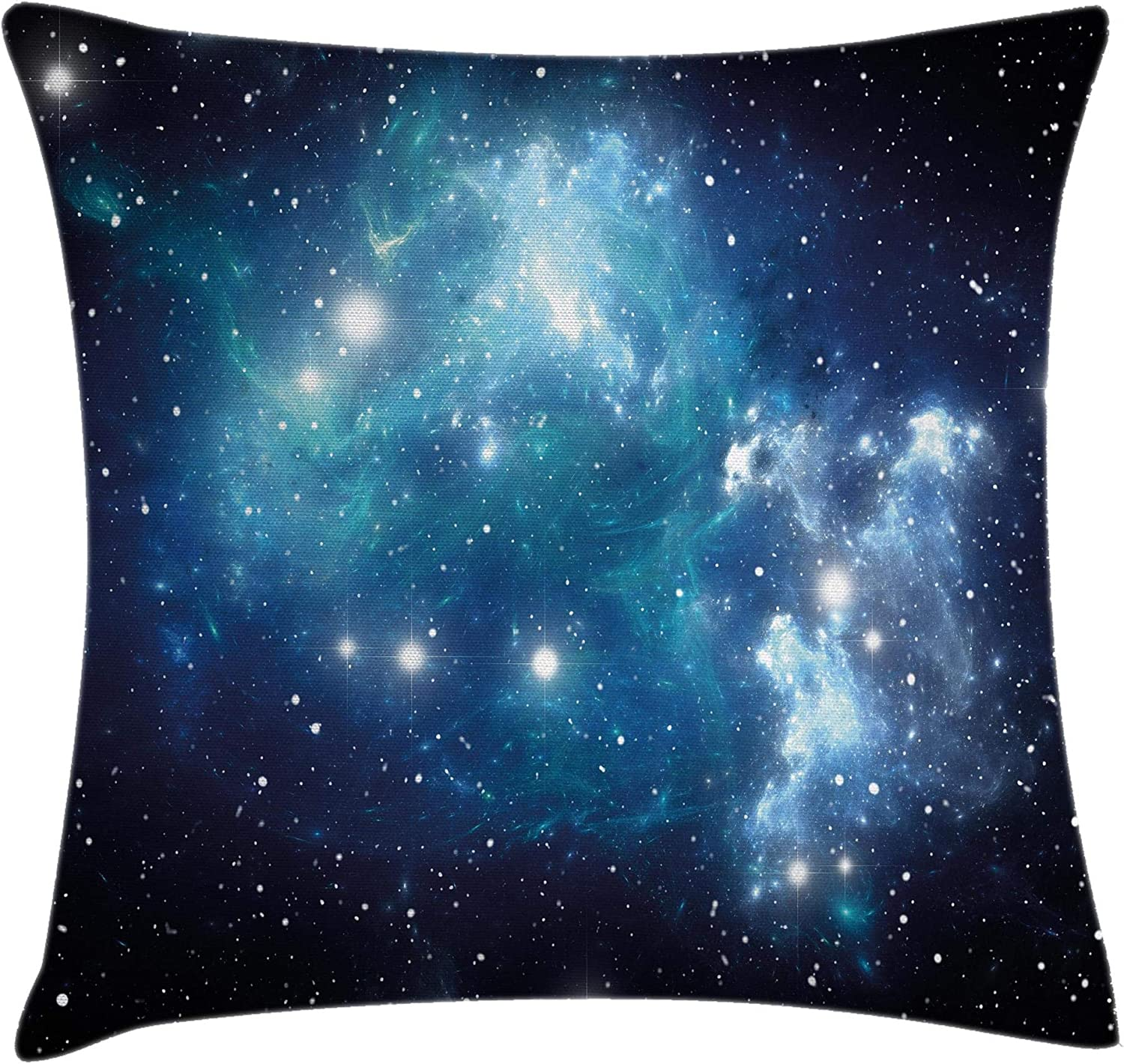 Amazon Com Ambesonne Space Throw Pillow Cushion Cover Vibrant Celestial Supernova Scenery Energy Andromeda Mystical Outer Space Picture Decorative Square Accent Pillow Case 20 X 20 Blue Home Kitchen