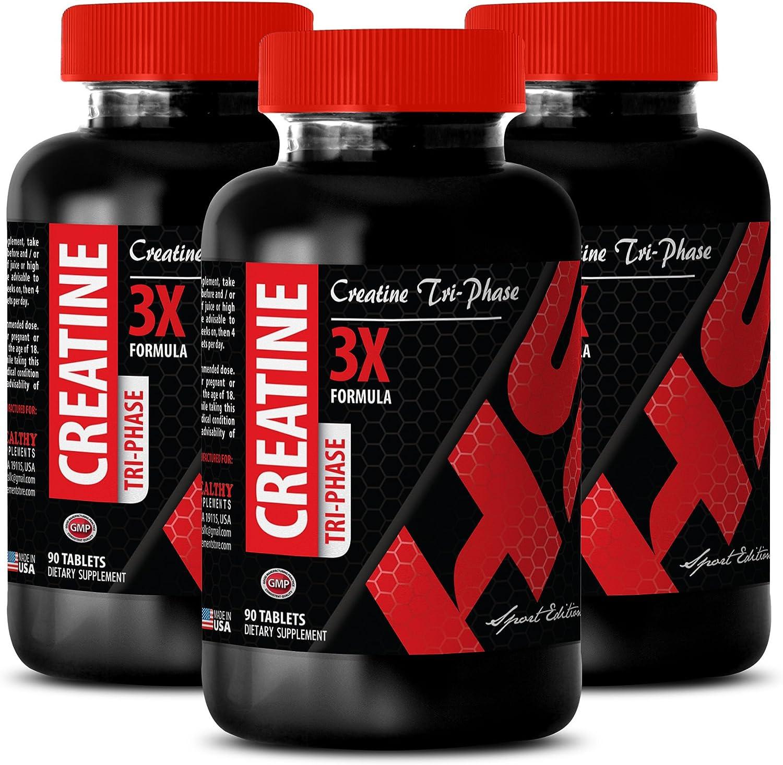Creatine Tri-Phase 5000 mg Creatine Monohydrate Enhance Energy Reserves 2B