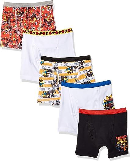 LEGO The NINJAGO Movie 5 Pack Boys Briefs Size 4 Kids Underwear 100/% Cotton New