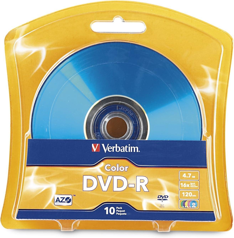 Verbatim DVD-R 10 Pack 4.7GB DVD-R 10pieza(s) - DVD+RW vírgenes (4,7 GB, DVD -R, 10 Pieza(s), 16x): Amazon.es: Informática