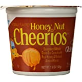 Honey Nut Cheerios Cereal Cup, Gluten Free Cereal, 1.8 oz (Pack of 12)