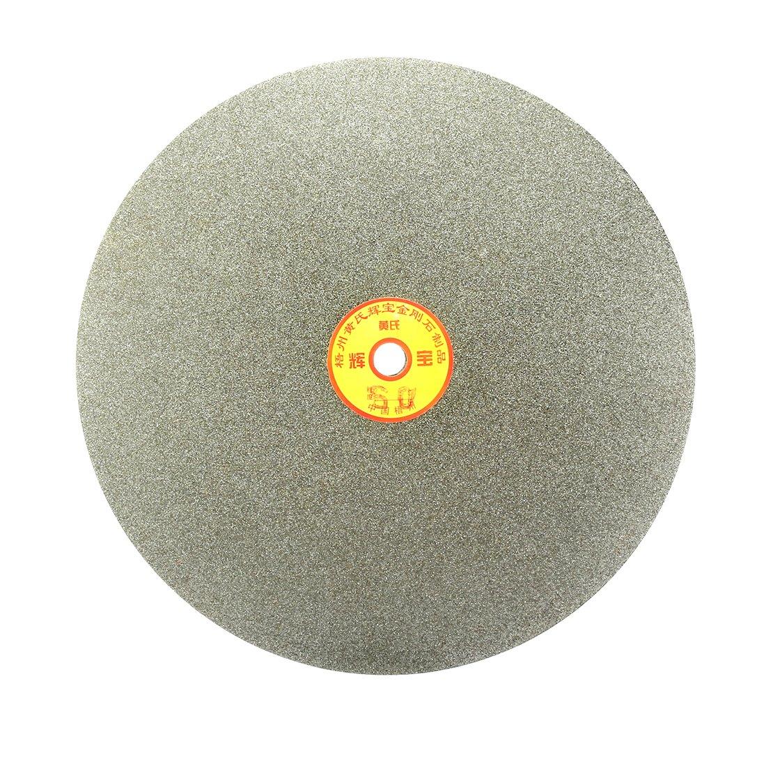 sourcingmap® 250mm grain 10' 60 revêtement Diamant Plat tour roue Disque Disque ponçage meulage sourcing map a17030900ux1414