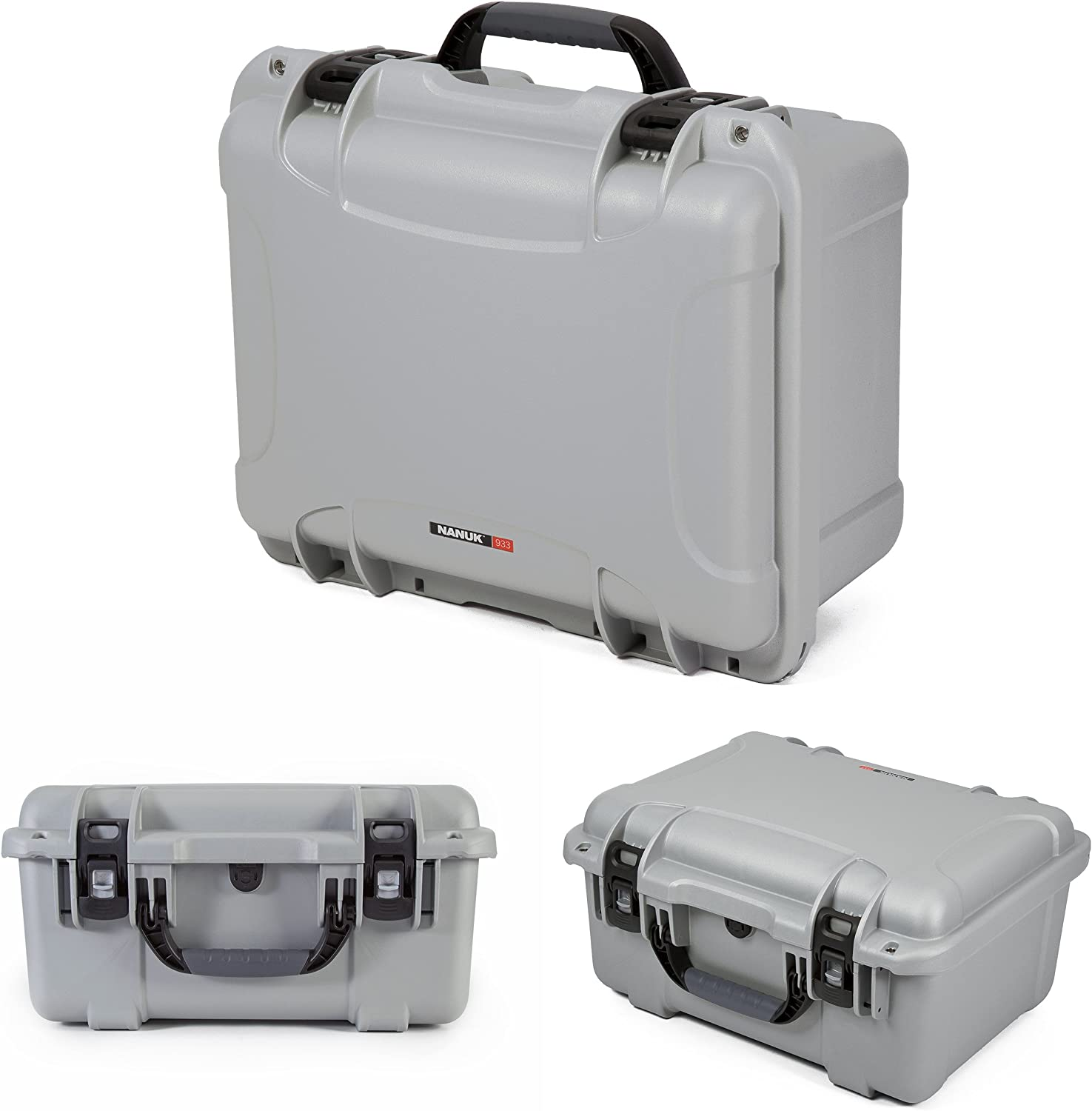 Nanuk 933 Waterproof Hard Case with Lid Organizer and Padded Divider Olive