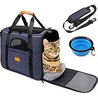 Transportín Gato Perro, Bolsa de Transporte Plegable para Mascota, Transportín de Viaje Portátil y Transpirable con…
