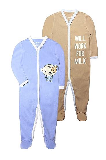 7650bb011 Amazon.com  Baby Boy Cute 2 Pack Cotton Pajamas - Organic Baby ...