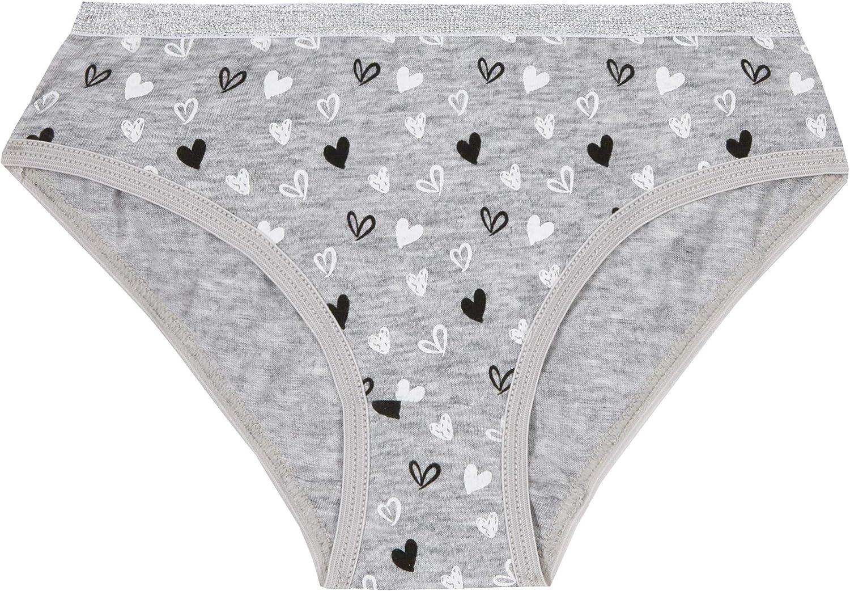 Minikidz 5Pack Girls Knickers Great Everyday Pants 100/% Cotton Briefs Glittery Trims