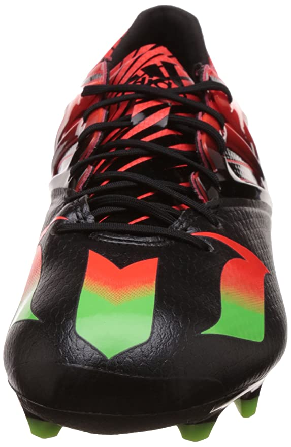 52669d8dd Amazon.com  adidas Messi 15.1 FG AG Football Boots - Adult - Core Black Solar  Green Solar Red -  Sports   Outdoors