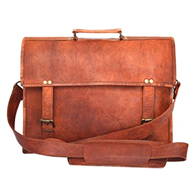 Amazon.com | London Satchel Co Handmade Real Leather Satchel ...