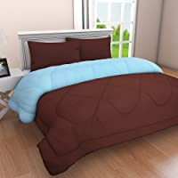 Clasiko Reversible Double Bed King Size Comforter/Duvet for Summers/Ac; Color Peach & Tempting Taupe; Fabric - Micro Cotton; 300 GSM; Size - 230x254 Cms; Color Fastness Guarantee