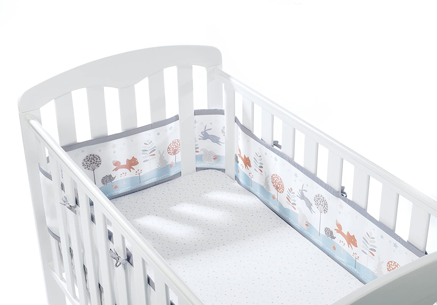 BreathableBaby Cot Mesh Liner (Enchanted Forest) 18432