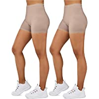 Gilbin Ultra Soft High Waist Yoga Stretch Mini-Bike Shorts for Women-Many Colors-One Size & Plus Size
