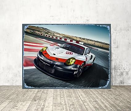 Amazon.com : Car Metal Sign Race Car Wall Art Speed Car Metal Sign ...