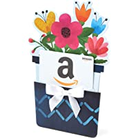 Amazon.com Gift Card for Any Amount in a Flower Pot Reveal (Classic White Card Design)