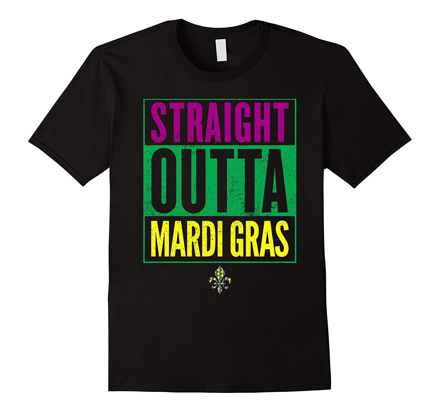 Straight Outta Mardi Gras Party T-Shirt-TD