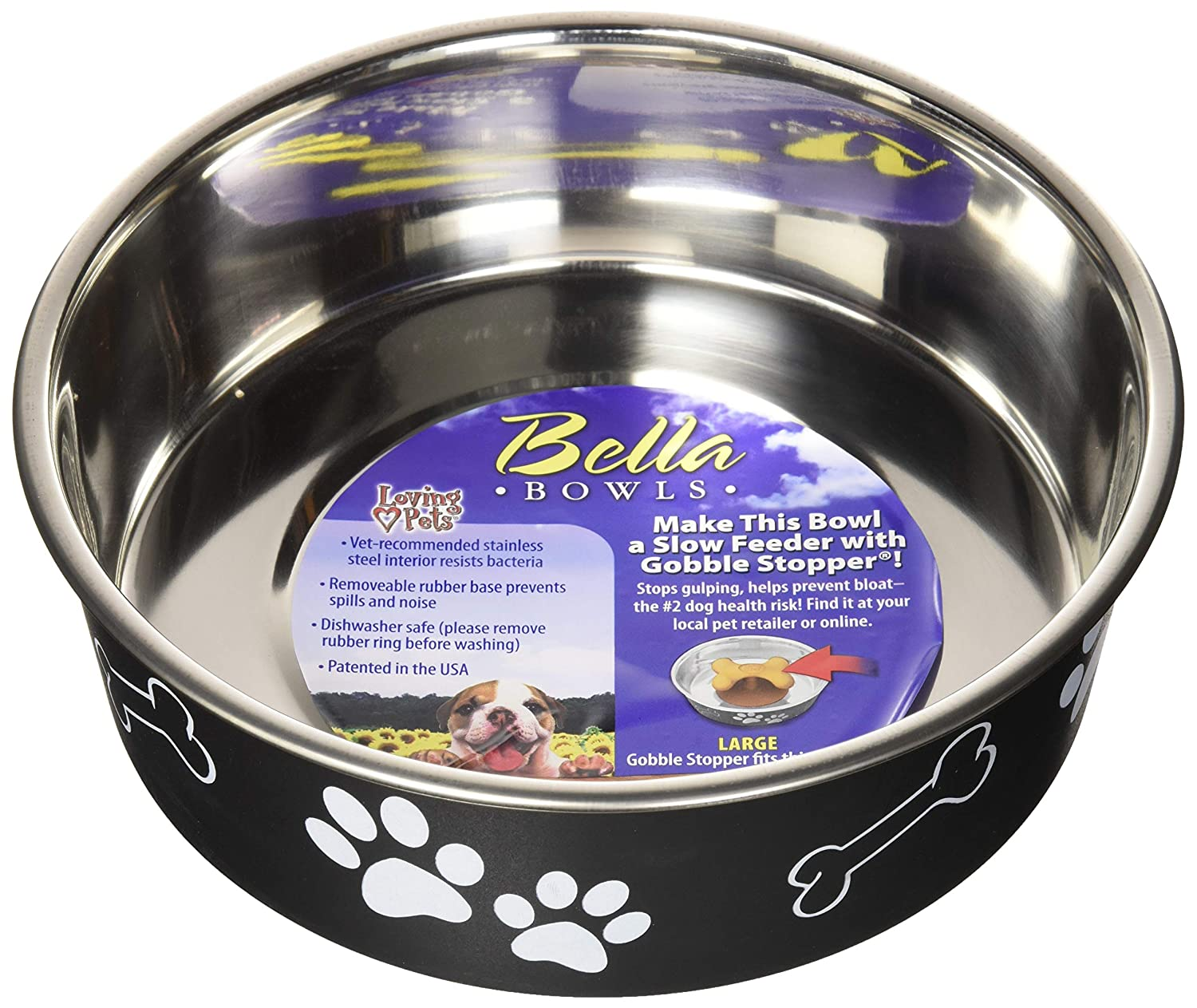 Other Bird Supplies Loving Pets Bella Bowl For Dogs Medium Murano Blue Fast Color