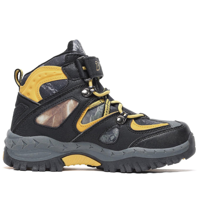 Kids Hiking Shoes Trekking Walking Snow Boots Antiskid Steel Buckle Sole Waterproof Winter Outdoor Climbing Cotton Sneaker.HS-8032-Y-37,5 M US Big Kid(Foot Length=23.5cm),Yellow by Littleplum (Image #2)