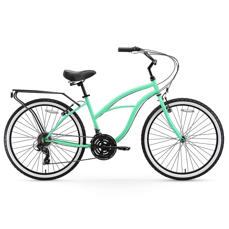 24-Inch, 26-Inch, and eBike sixthreezero Around the Block Womens Cruiser Bike with Rear Rack