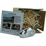 11th Anniversary You Are My Rock Gift Idea - Solid Metal Heavy Polished Rock Gift for 11 Year Anniversary
