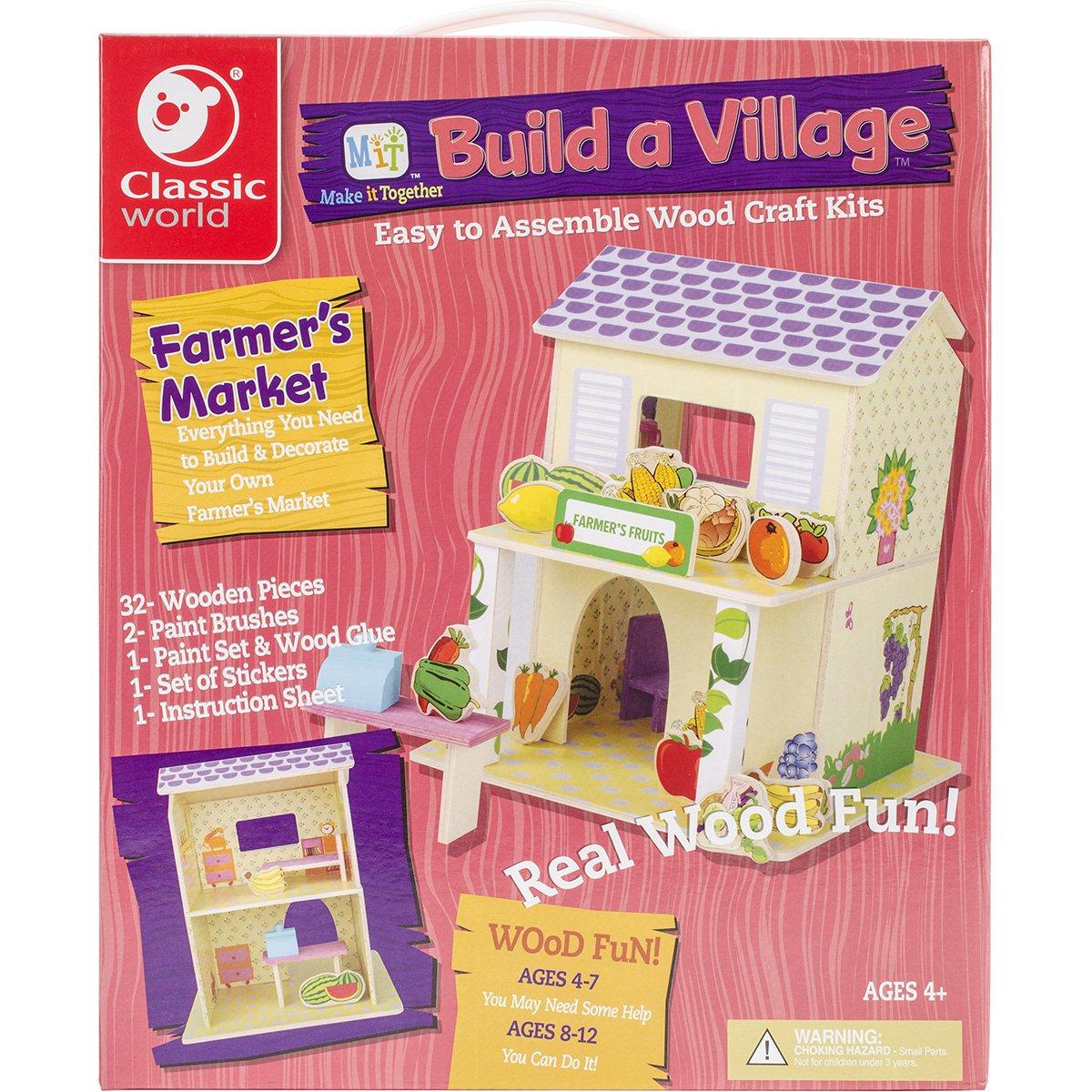 Classic Build A Village Farmer'S Market Building Kit
