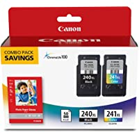 """Canon Fine Cartridge PG-240XL/CL-241XL with Photo Paper Glossy (50 Sheets, 4""""x6"""")"""