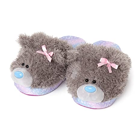 ME TO YOU LADIES TATTY BEAR PINK MULE SLIP ON SLIPPERS