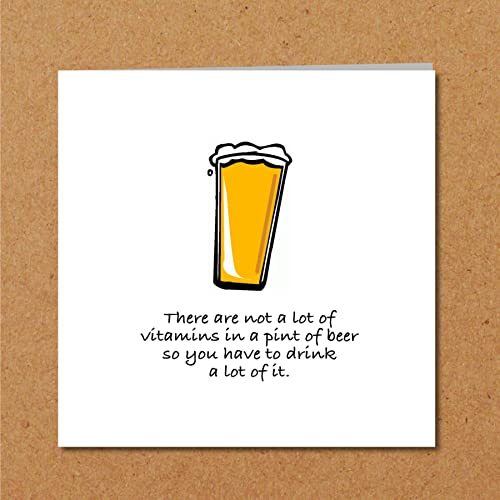 BEER Card For Husband Son Father Uncle Or Any Male Friend