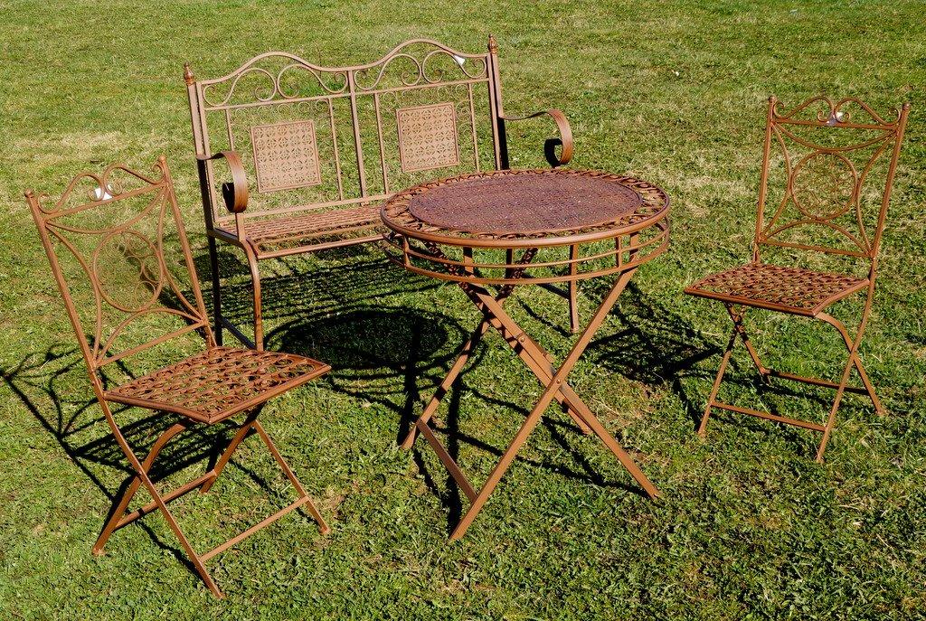 Exklusive 4tlg Sitzgruppe Yago Bank Gartentisch Und 2 Stuhle