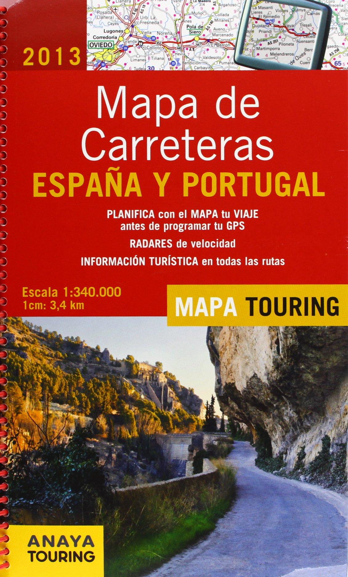 Mapa De Carreteras De España Y Portugal 1:340000 - 2013 Mapa ...