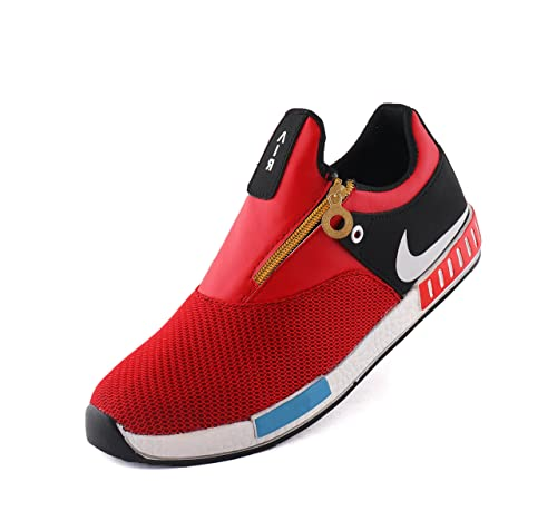 ed1daec03c76 AORFEO Red Unisex Casual Shoes Sneakers For Men and Women No Lace Casuals  CASUAL30 10  Buy Online at Low Prices in India - Amazon.in