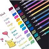 Dyvicl Metallic Gel Pen, Dual Metallic Liquid Glitter Iridescent Gel Pen for Adult Coloring, Doodling, Drawing, Scrapbooking,