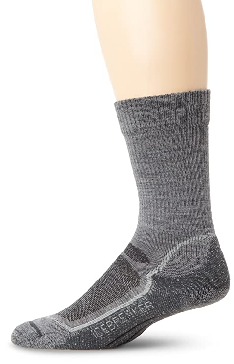 Icebreaker Men's Hike+ Lite Crew Socks (Twister/Silver/Oil, Large)