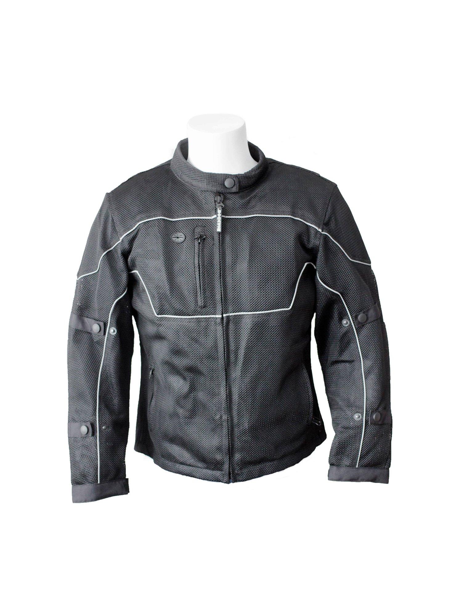 RoadDog Hurricane Mesh Motorcycle Riding Jacket Black Women's Large