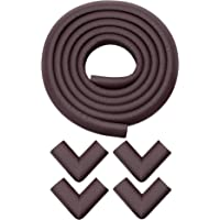 Store2508 Child Safety Strip Cushion & Corner Guards with Strong Fibreglass Tape (Brown)