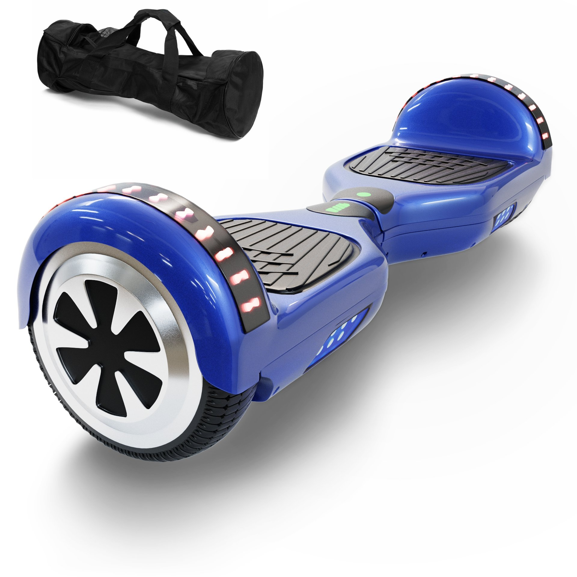 Hoverboard Self Balancing Scooter UL 2272 Certified with Powerful Bluetooth Speaker, Cool LED lights and FREE Portable Carrying Bag (Royal Blue) by CXInWalk