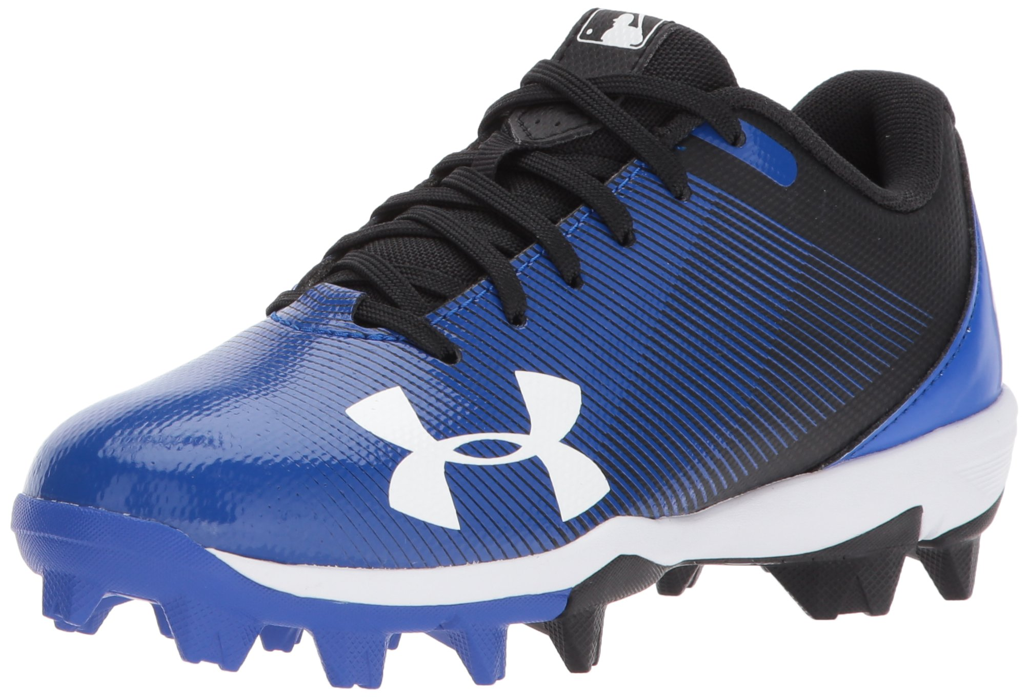 Under Armour Boys Leadoff Low Jr. RM Baseball Shoe, Black (041)/Team Royal, Toddler 8K US by Under Armour