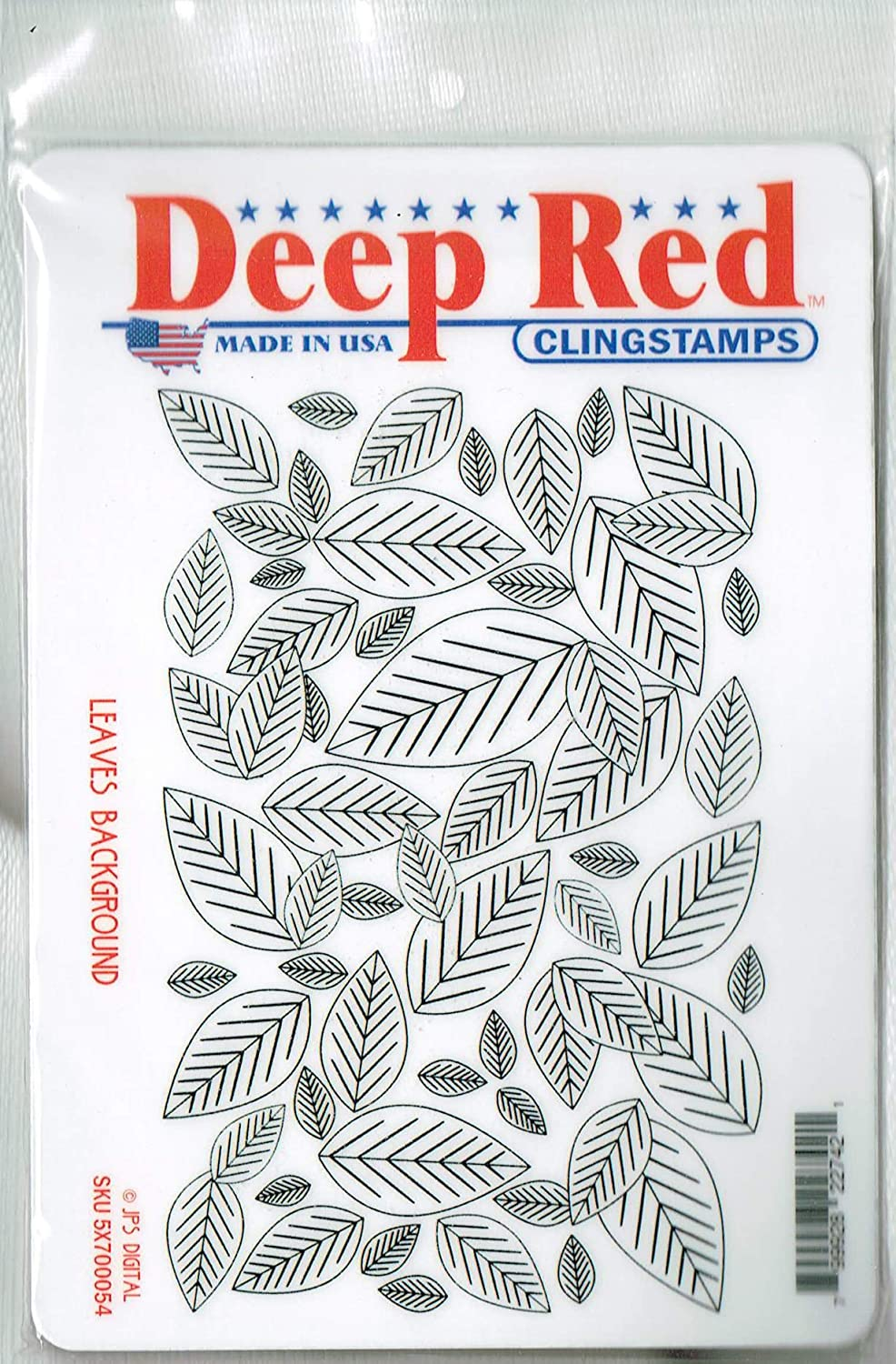 amazon com deep red stamps leaves background rubber stamp arts