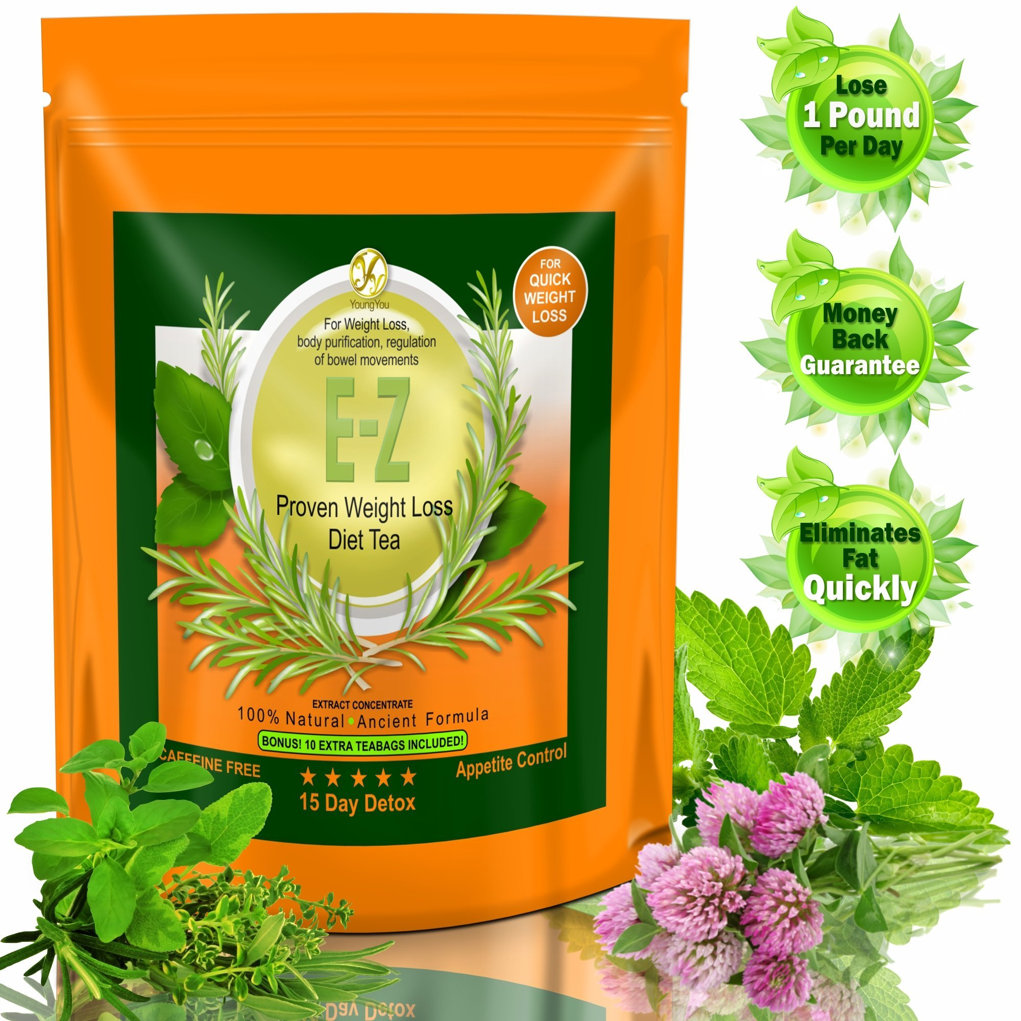 BODY DETOX CLEANSE TEA - WEIGHT LOSS COLON CLEANSE AND DETOX