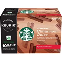 Starbucks Signature Collection Cinnamon Dolce Flavoured Ground Coffee K-Cup Pods, 10 Count Box, 101 Gram