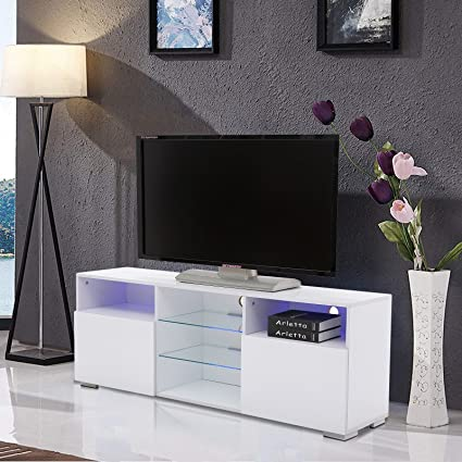 Image Unavailable. Image not available for. Color  Mecor High Gloss TV Stand  ... 0097a63c39